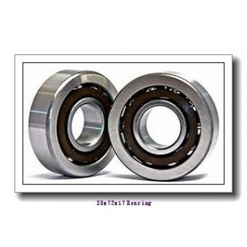 35 mm x 72 mm x 17 mm  ISO 6207-2RS deep groove ball bearings