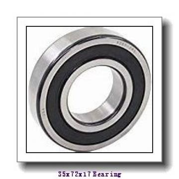 35 mm x 72 mm x 17 mm  NTN 7207UCG/GNP42 angular contact ball bearings