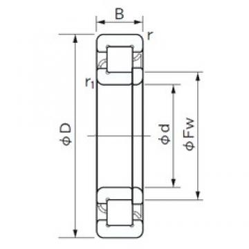 35 mm x 72 mm x 17 mm  NACHI NUP 207 cylindrical roller bearings
