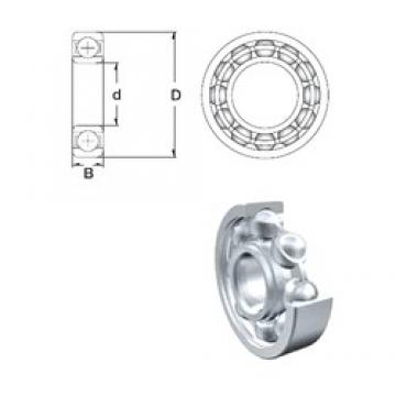 75 mm x 130 mm x 25 mm  ZEN S6215 deep groove ball bearings