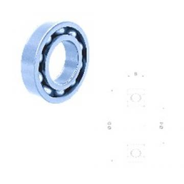 30 mm x 90 mm x 23 mm  Fersa 6406-2RS deep groove ball bearings