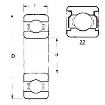 35 mm x 72 mm x 17 mm  FBJ 6207ZZ deep groove ball bearings