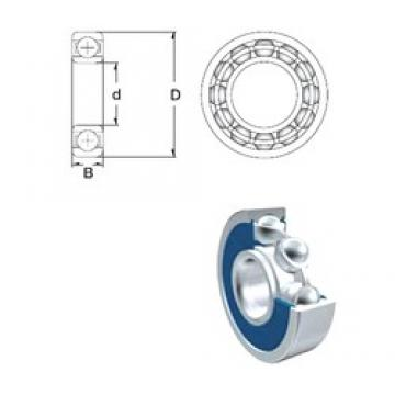 40 mm x 80 mm x 18 mm  ZEN S6208-2RS deep groove ball bearings