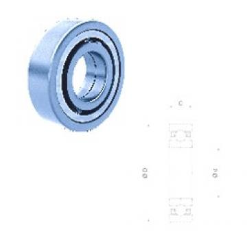 40 mm x 80 mm x 18 mm  Fersa QJ208FM/C3 angular contact ball bearings