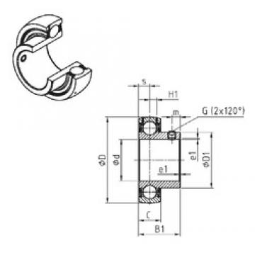 SNR US207 deep groove ball bearings
