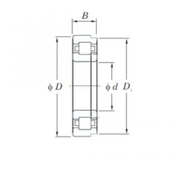 30 mm x 90 mm x 23 mm  KOYO NUP406 cylindrical roller bearings